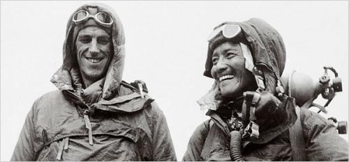 Эдмунд Хиллари и Тенцинг Норгей - первовосходители на Эверест